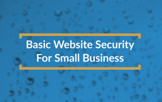 basic website security title box