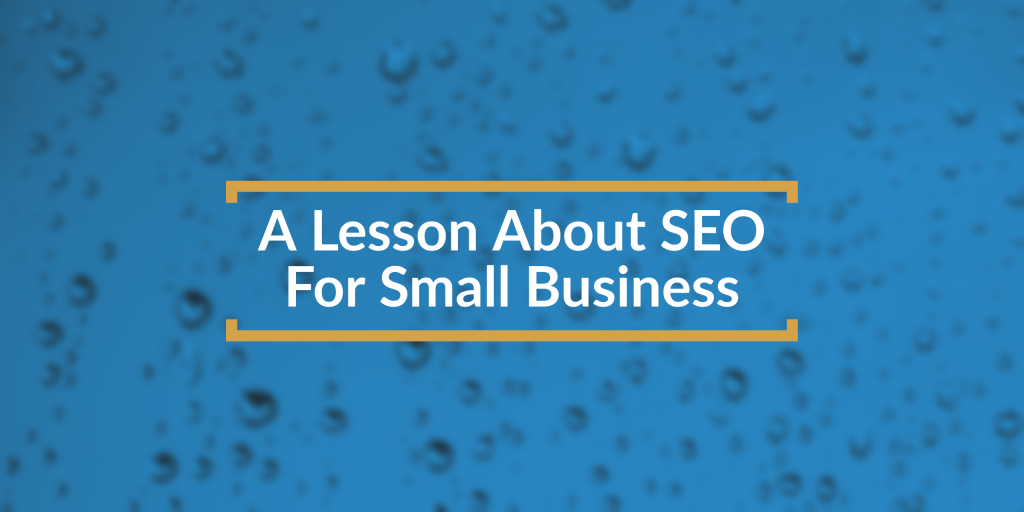 lesson in seo for small business title box