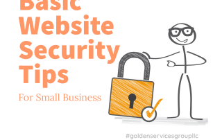 Basic website security tips stick man and lock